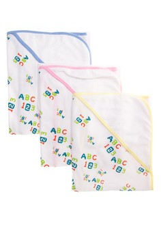 Bath Towel ABC123 Set of 3
