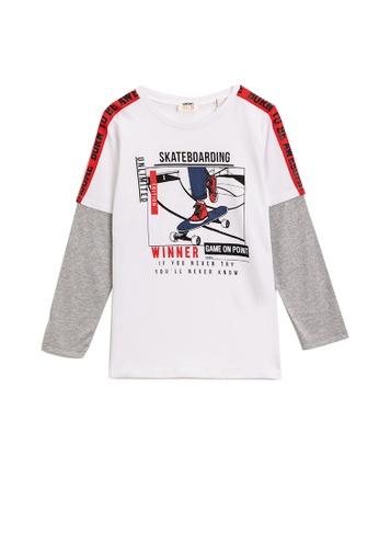 KOTON white Long Sleeve T-Shirt E371BKAF20185DGS_1