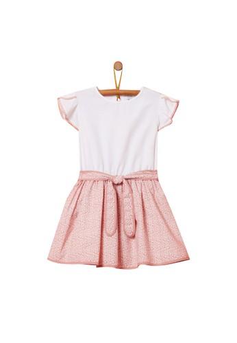 OVS white Floral Belt Print Dress 93E84KA7DCDE6DGS_1