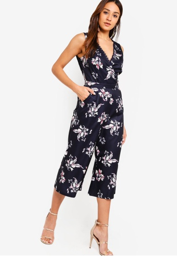 ZALORA multi and navy Overlap Jumpsuit 65C24AA7A33032GS_1