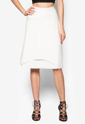 層topshop台灣疊及膝裙, 服飾, 及膝裙