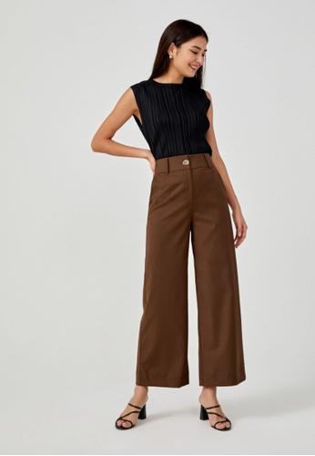 Love, Bonito brown Bethanie Tailored Wide Leg Pants 5306BAACA4701CGS_1