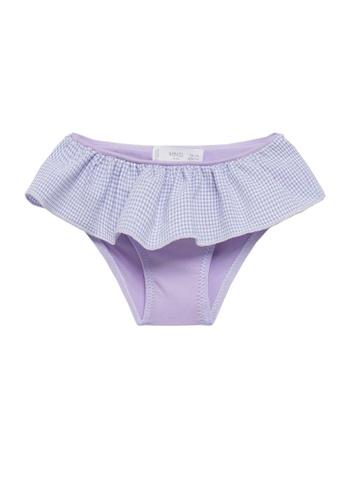 MANGO BABY purple Printed Ruffle Swim Panties EDF39KAA1B2449GS_1