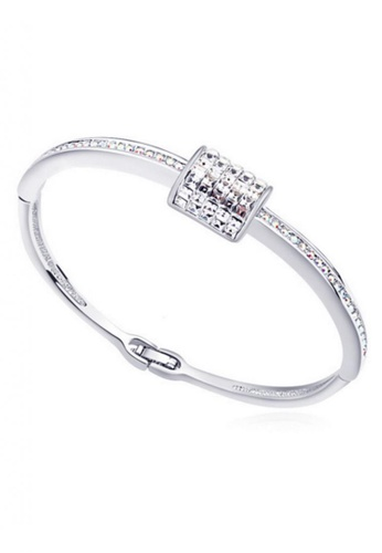 LOVENGIFTS white and silver LOVENGIFTS Fairy Tales Bangle (White) LO429AC39BEMMY_1
