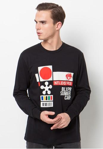 bloop black Bloop Tshirt LS Summercamp Black BLP-QA003 BL860AA61AKCID_1