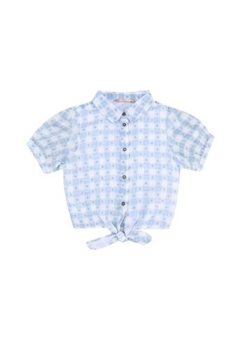 ONLY blue Mila 2/4 Knot Shirt 298D2KA00742DBGS_1