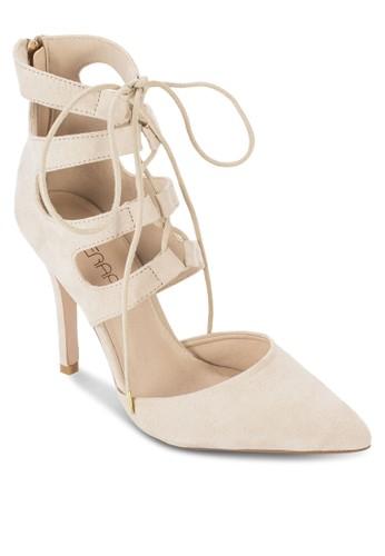 Cressida 鏤空麂esprit outlet 桃園皮高跟踝靴, 女鞋, 鞋