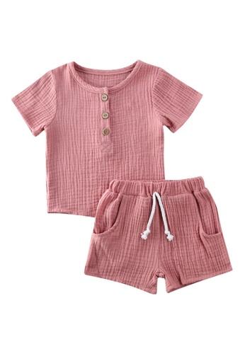 RAISING LITTLE pink Charli Outfit Set EFD7BKAADB75B5GS_1