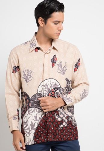 ARJUNA WEDA brown Kemeja Batik Tenun Kawung F0769AAD940EAEGS_1