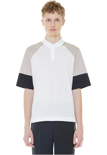 MILLOGREM beige Color Blocking Polo Shirt MI241AA0GNNMSG_1