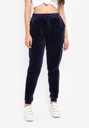 Supre navy Velour Track Pants 1AD1EAAC20F44CGS_1