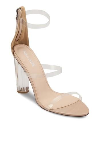 Amari 透明繞踝帶高跟鞋esprit暢貨中心, 女鞋, 鞋