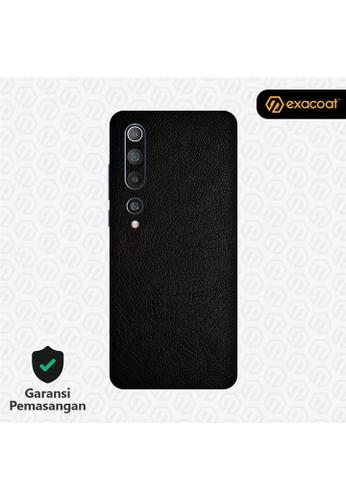 Exacoat Xiaomi Mi 10 3M Skins Leather Series - Leather Black 9F5A0ES94B5EA2GS_1