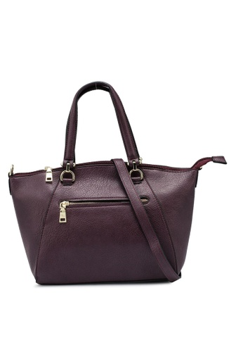 Mel&Co purple Faux Leather Double Handle Bag FB994AC187D84DGS_1