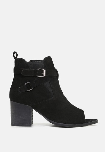 Rag & CO. black Peep Toe Ankle Boots 3ADB2SH46F0027GS_1