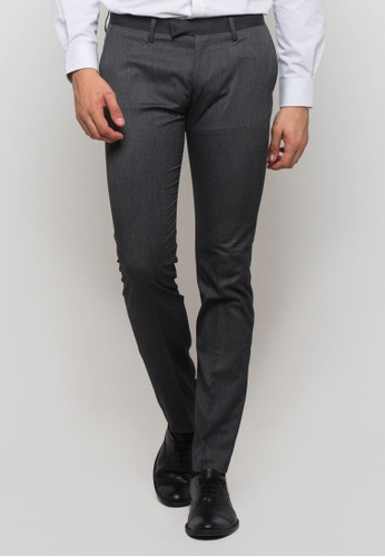 The Executive grey Formal Skinny Pants EC4F6AA2135EF4GS_1