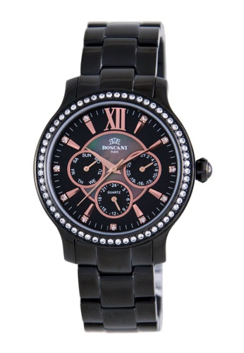Roscani black Roscani Hope 910 (Multifunction + WR 5ATM) Black Bracelet Women Watch 2A73DAC6FC6CDCGS_1
