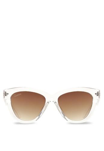 Sunnies Studios white Marnie Sunglasses SU049AC36PWLPH_1