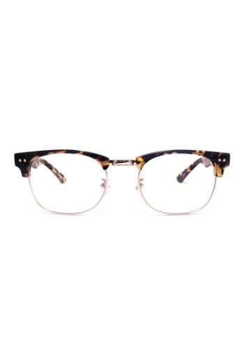 眉架鏡框│esprit sg玳瑁色 X 銀色│M1054-C5, 飾品配件, 眼鏡