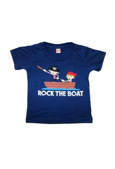 Bug and Kelly Rock the Boat Blue Boys Shirt[Toddler]
