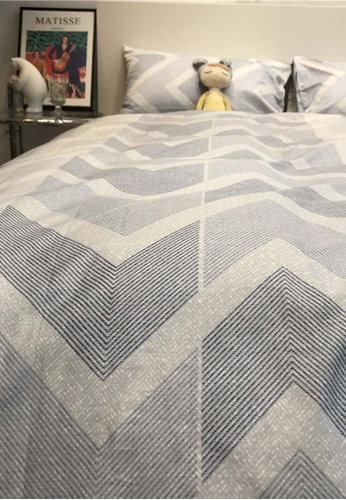Milliot & Co. blue Inca Printed 4-Piece Quilt Cover Set 42370HL41BC105GS_1