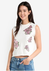 Mango white Sequin Embroidery Top MA193AA0RAVYMY_1