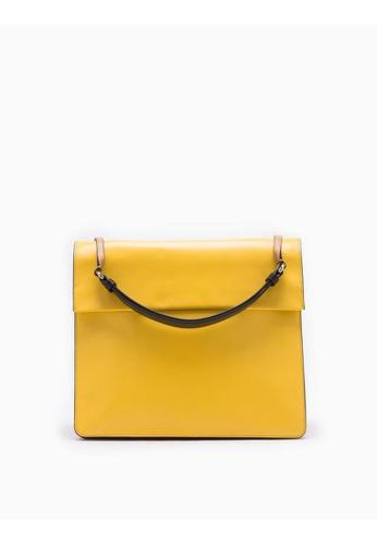 Calvin Klein yellow Flared Shoulder Bag 560AAAC3CBF5B0GS_1