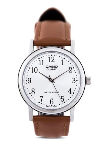 MTP-1esprit門市095E-7BDF  數字仿皮圓錶, 錶類, 皮革錶帶