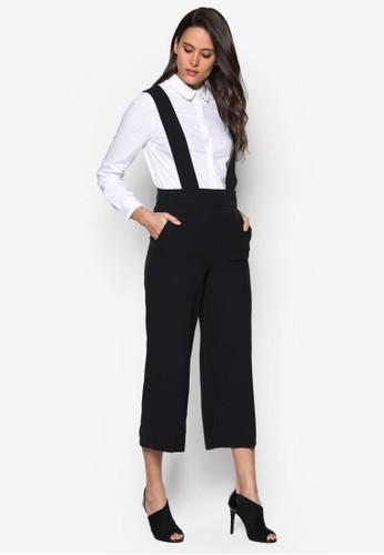 交叉背帶吊帶九分寬褲、 服飾、 服飾DorothyPerkins交叉背帶吊帶九分寬褲最新折價