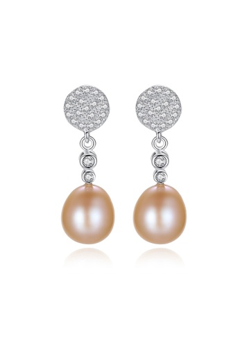 A.Excellence pink Premium Pink Pearl Elegant Earring 62600AC9E8CCB1GS_1