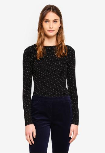 OVS black Printed T-Shirt In Stretch Cotton C94B3AADAF9FC1GS_1