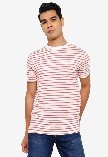 Springfield pink Stripy T-Shirt BD146AA04DB669GS_1