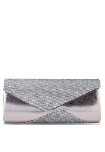 Unisa grey Duo Textured Dinner Clutch UN821AC88FFFMY_1
