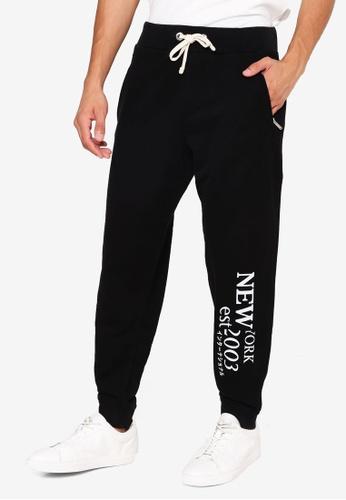 Superdry black Contemporary NYC Jogger Pants A13CCAA1A9FAA1GS_1