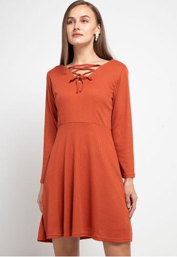 CHANIRA LA PAREZZA orange Chanira La Parezza Lexie Dress 37982AA096A367GS_1