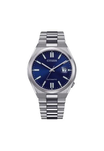Citizen silver CITIZEN AUTOMATIC NJ0150-81L BLUE DIAL STAINLESS STEEL MEN'S WATCH E95A6ACFD59E68GS_1