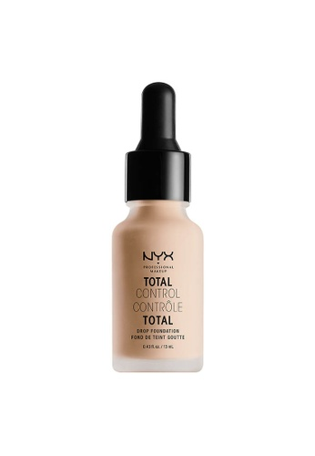 NYX Professional Makeup beige NYX Professional Makeup Total Control Drop Foundation - LIGHT IVORY 07F4BBEC4F6BFEGS_1