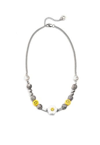 HAPPY FRIDAYS Sunflower Stone Stitched Necklace DW0863 4E49DAC57E6459GS_1