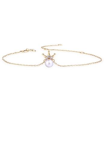SUNSET gold Premium 18K Gold Pearl Bracelet 95C86AC21BA273GS_1