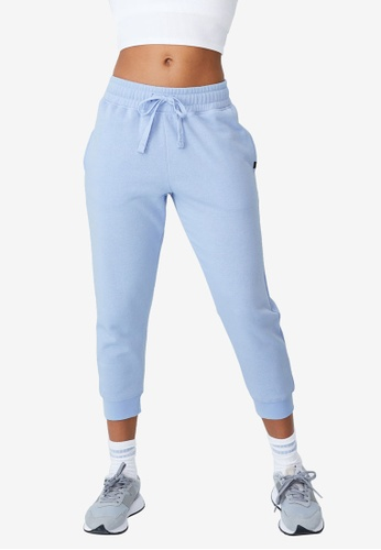 Cotton On Body blue Lifestyle Cropped Gym Track Pants 8715BAA53D669FGS_1