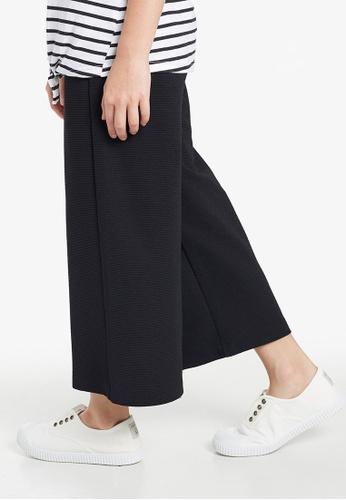 Gen Woo black Wide Leg Cropped Trouser By Gen Woo 1495FKA5522D41GS_1
