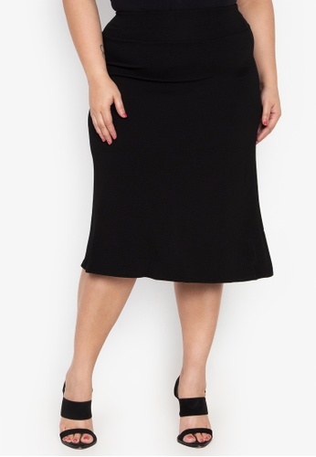 00008d5bd83 Shop Amelia Plus Size Midi Skirt Online on ZALORA Philippines