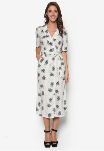 花卉裹飾洋裝, esprit門市服飾, 洋裝