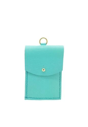 LIVLOLA green and blue Le Jean Cardholder LI657AC29IWSMY_1