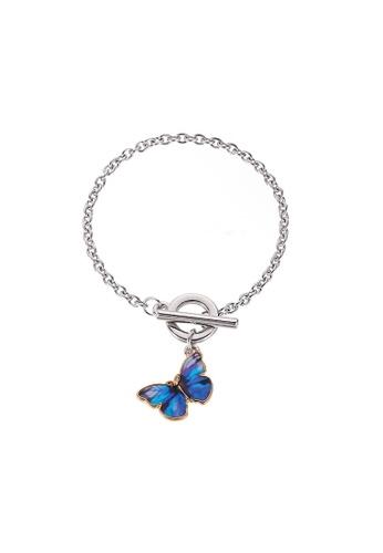 Glamorbit blue Dark Blue Butterfly Bracelet 7BFFBAC1E81DB3GS_1