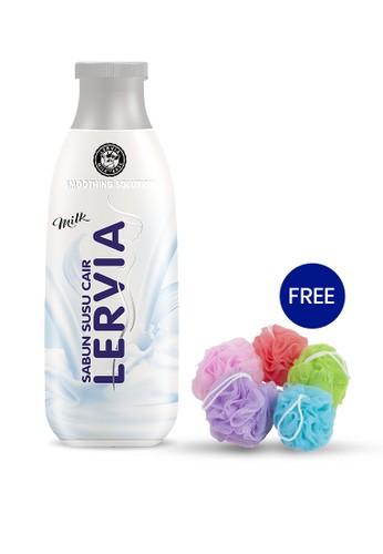 LERVIA n/a LERVIA Sabun Susu Cair Milk 250mL Free Shower Puff D8C32ES2815D4DGS_1