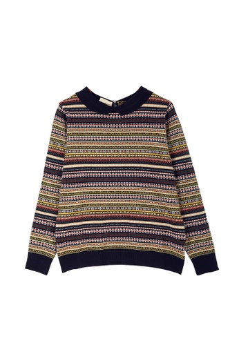 Its Me multi Ethnic Striped Sweater F684EAACF369E3GS_1