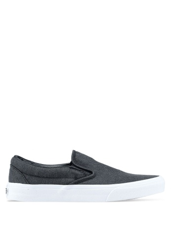 VANS black Slip-On Herringbone VA142SH0SWW6MY_1