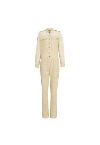 Burberry yellow Burberry Floral lace Jumpsuit in Pale Yellow 4FF50AAA7249A9GS_1