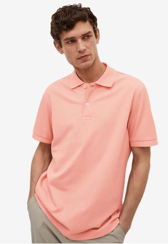 MANGO Man pink Technical Cotton Piqué Polo Shirt DA7ABAA9134271GS_1